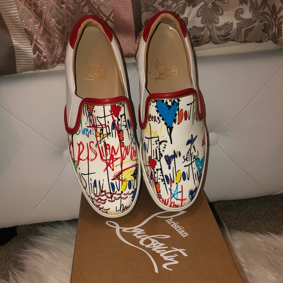 get cheap 58e7d 7baf7 Louboutin Masteralta Flat Patent Leather Sneakers